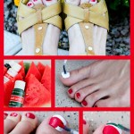 Fun Watermelon Toenails